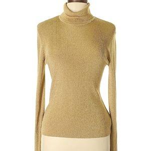 Gold Ralph Lauren turtleneck long sleeve size L